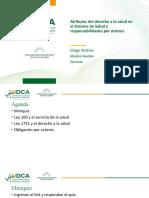7.1 Atributos del derecho a la salud en el Sistema de Salud y responsabilidades por actores