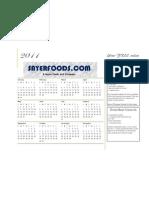 SF 2011 Calendar