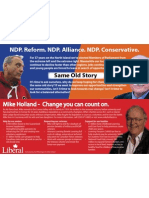 Mike Holland canvass brochure