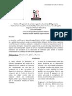 Práctica 3. Preparación de Soluciones Para La Extracción de DNA Genómico