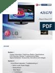 LG Training Manual LCD TV 42LG70