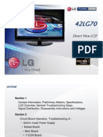 LG Training Manual LCD TV 42LG70