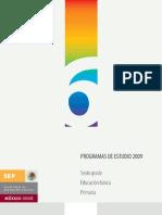 Programa Sexto Grado RIEB 2009