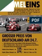 Flyer Formel-1-Tour zum Nürburgring am 24.7.