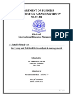 CURRENCY RISK & POLITICAL RISK MGT