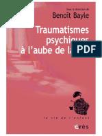 Traumatismes psychiques à l'aube de la vie-2021