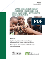 Towards sustainable energy services for households and small businesses – barriers and recommendations