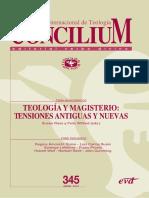 Revista Concilium teologia y magisterio