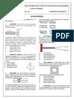 Lista de exercicios  -  Fisica II dilatação térmica