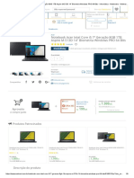 "Notebook Acer Intel Core i5 7ª Geração 8GB 1TB Aspire M-513D 14"" Biometria Windows PRO 64 Bits - Informática - Notebooks - Walmart"