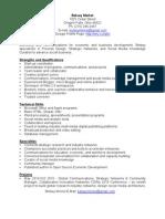Betsey Merkel CV Strategic Communications for Economic and Business Development