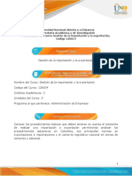 Presentación de curso Gestión de la Importación y la Exportación 126014