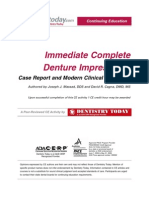 Immediate Complete Denture Impressions