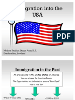 Immigration into the USA