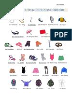 Kleidung Wortschatz Arbeitsblatter Bildworterbucher 13151