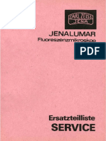 Zeiss Jenalumar - Ersatzteilliste