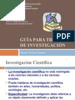 Guía para trabajos de Investigación