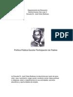 Política Pública Escolar de Participación de Padres Escuela Intermedia Dr. José Celso Barbosa