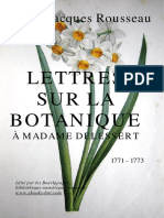 Rousseau - Lettres sur la botanique