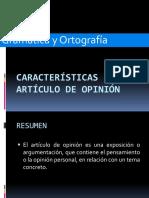 10. CARACTERÍSTICAS DEL ARTÍCULO DE OPINIÓN (1)