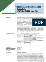 Konica Centuria Super 1600 Film