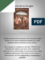 PROF. COVARRUBIAS HISTORIA DE LA CIRUGIA