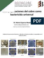uso del cobre como bactericida universal ME