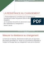 1 -la résistance au changement