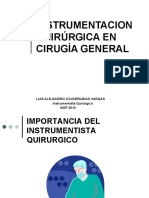 PROF. COVARRUBIAS INSTRUMENTAL  QUIRÚRGICO  UTILIZADO EN CIRUGIAS  GENERALES