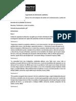 Actividad 9. Ejercicio de Categorización de Información Cualitativa