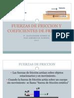 Fuerzas de Friccion y Coeficientes de Friccion