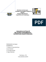 Relatrio II, Superficies Equipotenciais