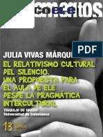 l Relativismo Cultural Del Silencio. Una Propuesta Para El Aula de Ele Desde La Pragmática Intercultural
