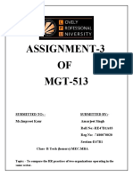 ASSIGNMENT  3 mgt 513