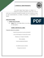 ANÁLISIS LITERARIO EL SEÑOR PRESIDENTE