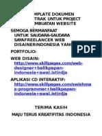 Perjanjian Kontrak Disain Web Site