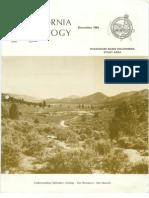 California Geology Magazine December 1984