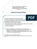 Appunti Anestesiologia Dr Pedrotti 2020