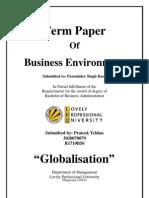 Globalization term paper