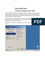 Backup de Active Directory en Windows Server 2003