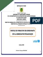 Niger%0amodule de Formation Des Enseignants %0d%0asur La Remediation Pedagogiqu Relance Pédagogique Vf