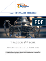FOOTBALL Coupe de France 2021-2022 4e tour Bourgogne-Franche-Comté