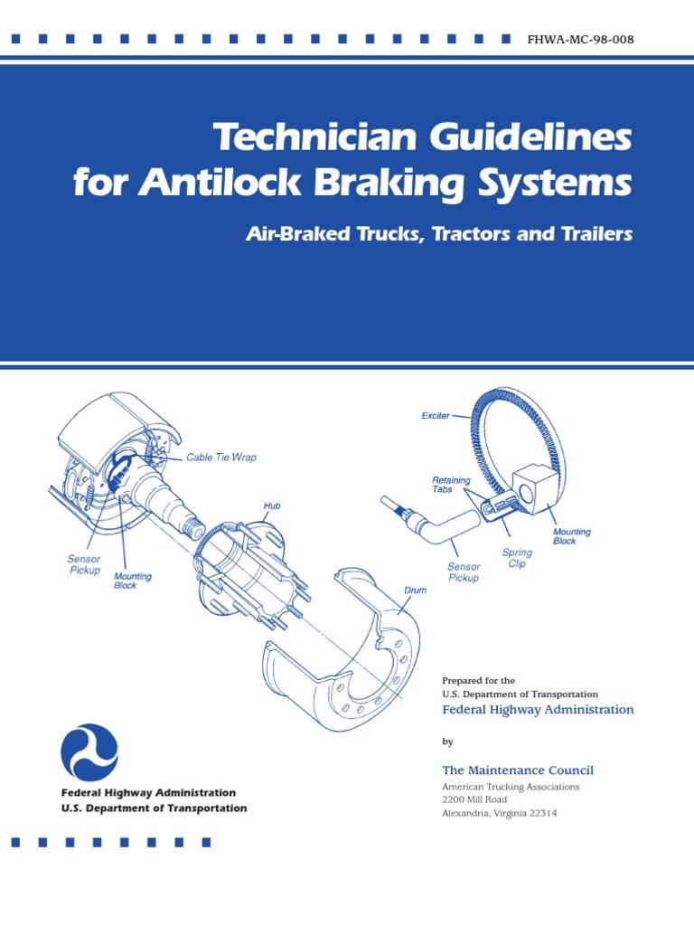 Fhwa Abs Anti Lock Braking System Electromagnetic Interference Car Brake Diagram Electropneumatic Brakes