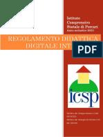 REGOLAMENTO DIDATTICA DIGITALE INTEGRATA  ICS PORCARI
