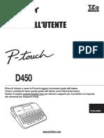 Manuale d'Uso Ptd450 Ita Ug d0130c001 03
