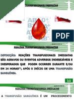 reação transfusionais