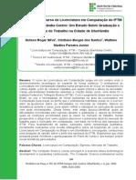 O Egresso do Curso de Licenciatura em Computação do IFTM Campus Uberlândia Centro