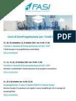 Corsi Di Europrogettazione per i Fondi UE 2021-2027