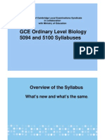 GCE- O Level Biology