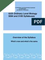 GCE- O Level Biology